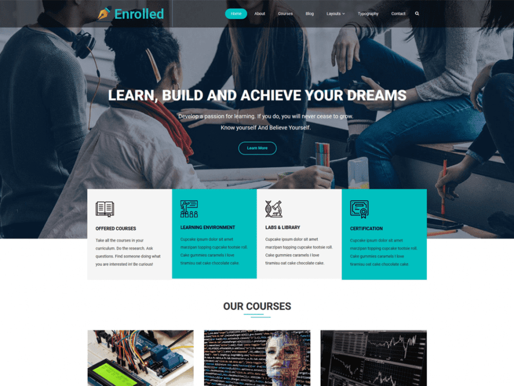 Free Enrolled WordPress theme