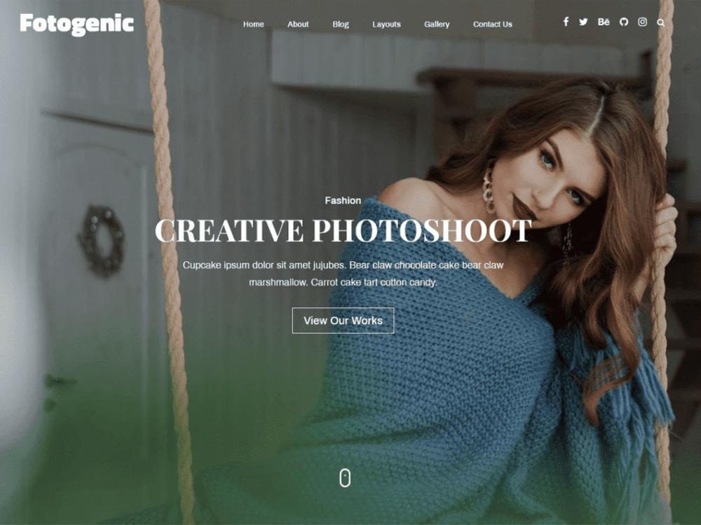 Free Fotogenic WordPress Theme