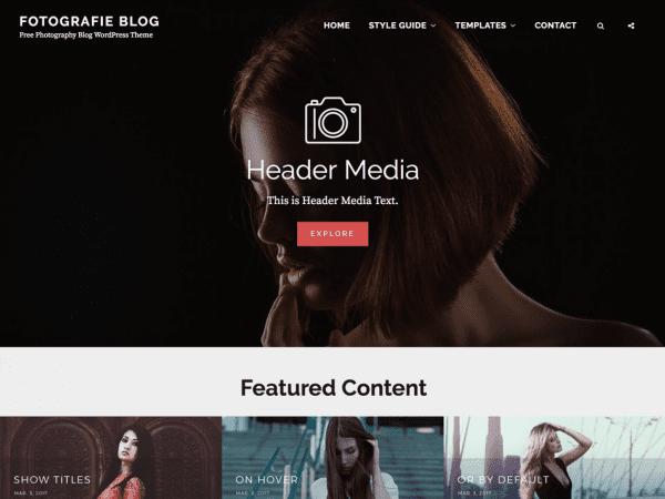 Free Fotografie Blog WordPress theme