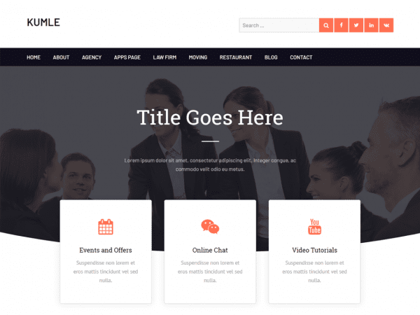 Free Kumle WordPress theme