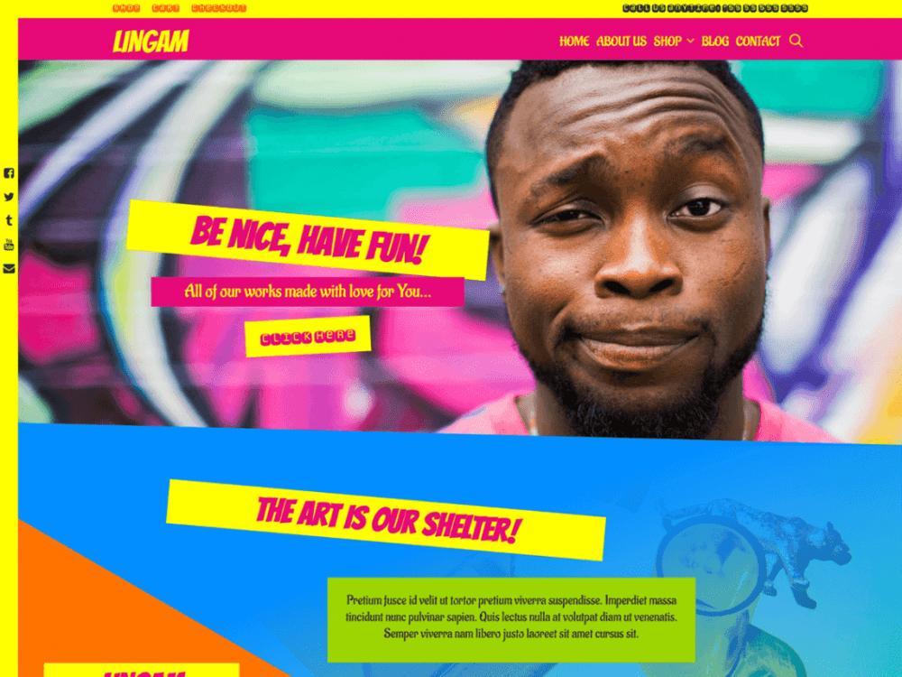 Free Lingam WordPress theme