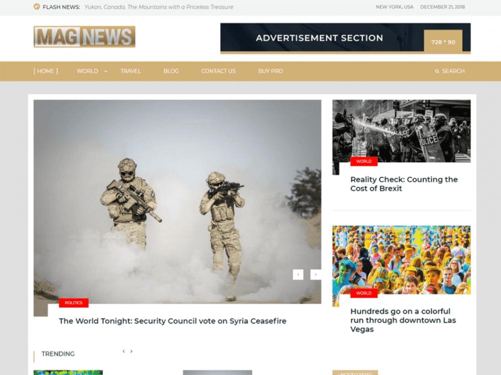 Free Mag News WordPress theme