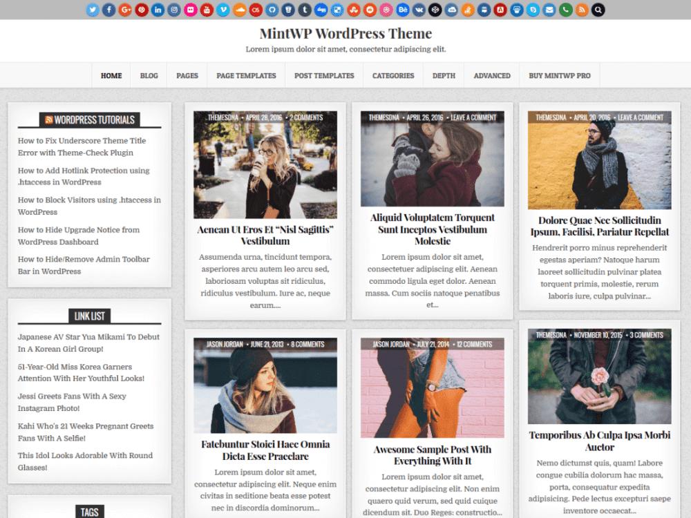 Free MintWP WordPress theme