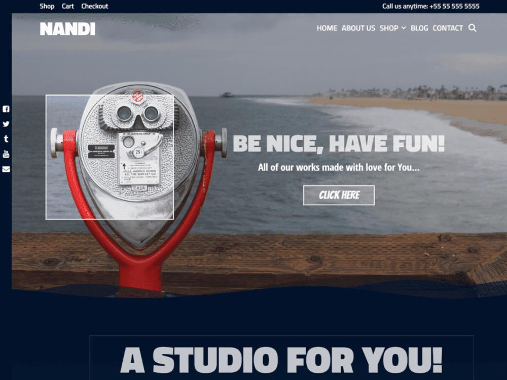 Free Nandi WordPress theme