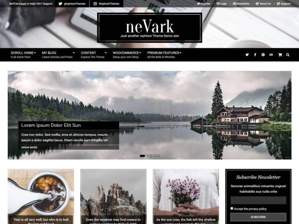 Free Nevark WordPress theme