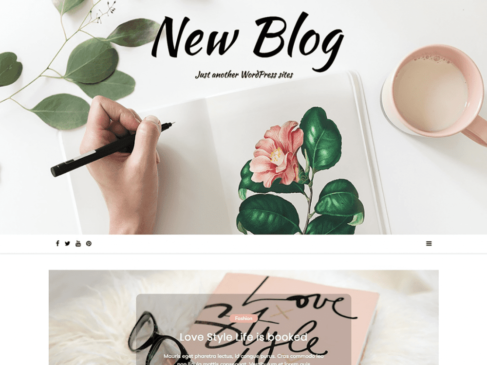 Free New Blog Wordpress theme