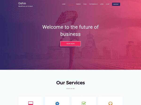 Free Oshin WordPress theme