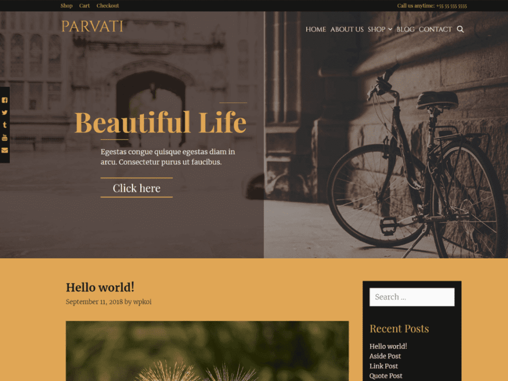 Free Parvati WordPress theme