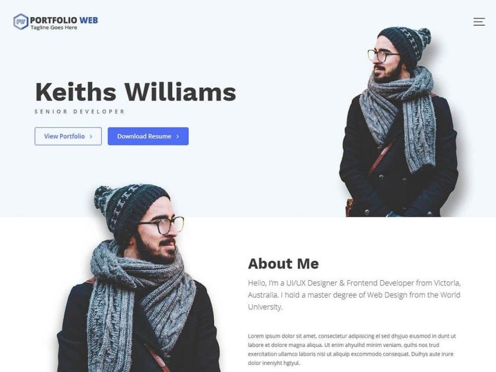 Free Portfolio Web WordPress theme