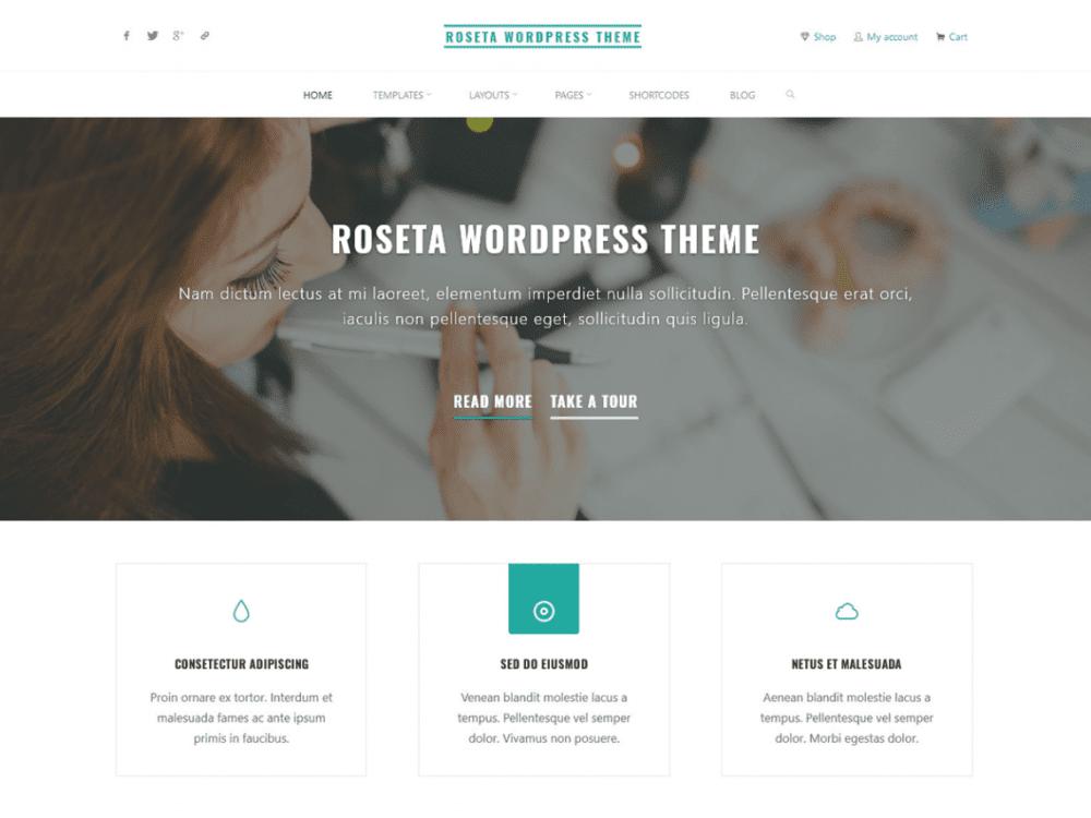 Free Roseta WordPress theme
