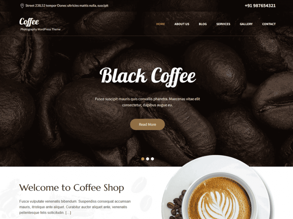 Free SKT Cafe WordPress Theme