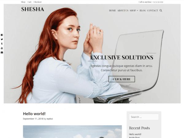 Free Shesha WordPress theme