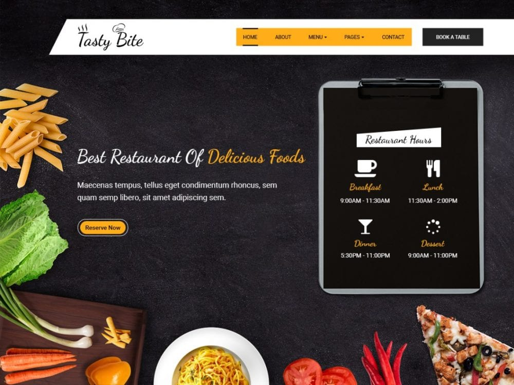Free Tastybite WordPress theme