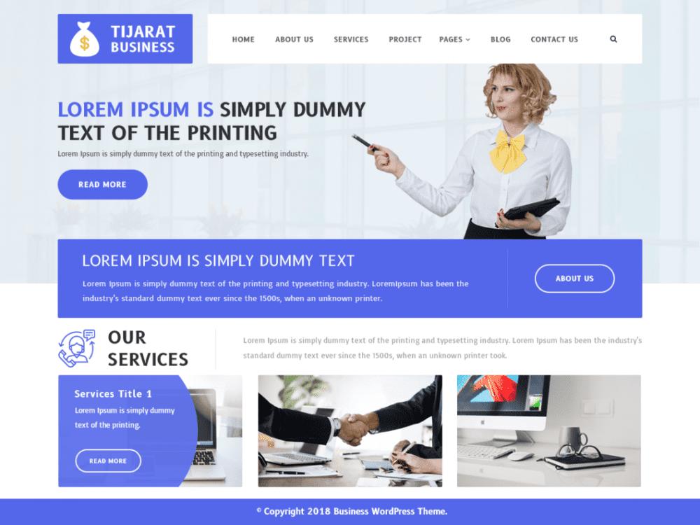 Free Tijarat Business WordPress theme