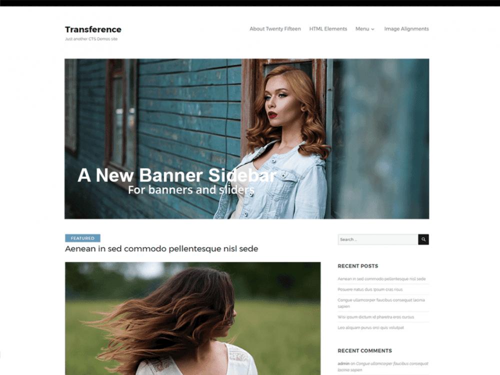 Free Transference WordPress theme