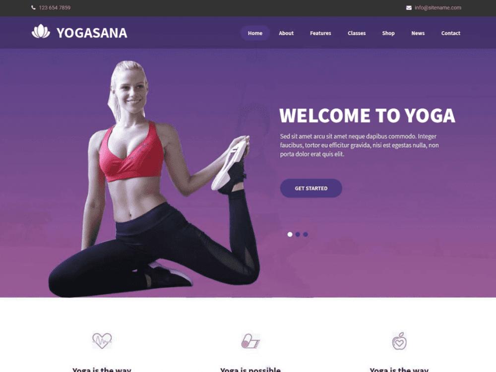 Free Yogasana Lite WordPress theme