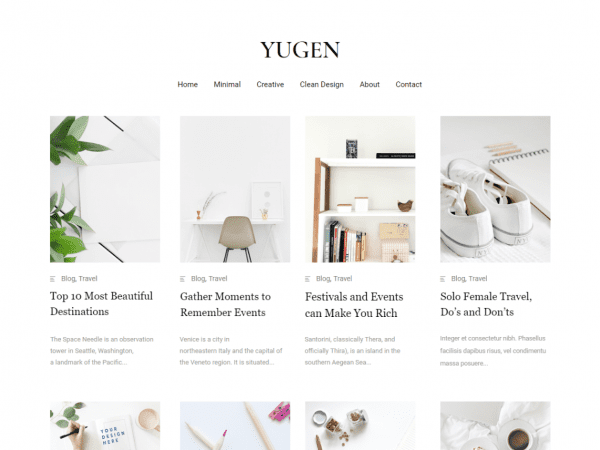 Free Yugen WordPress theme
