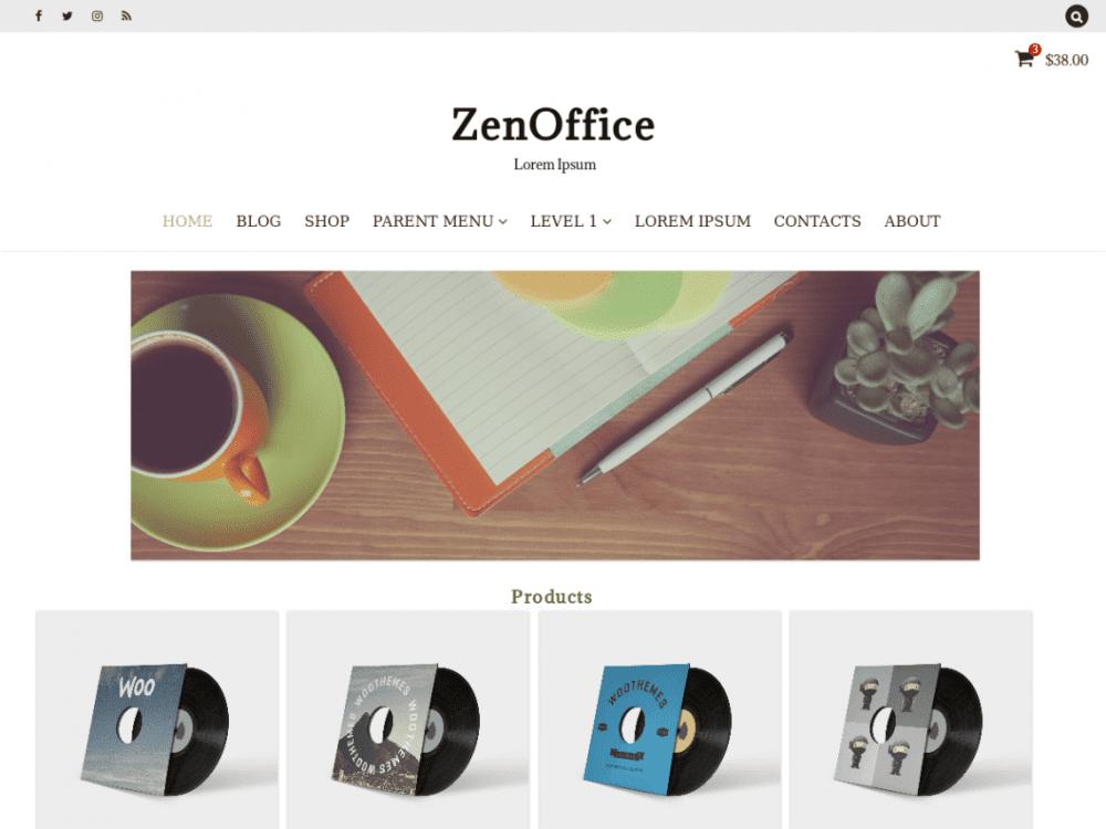 Free ZenOffice WordPress theme