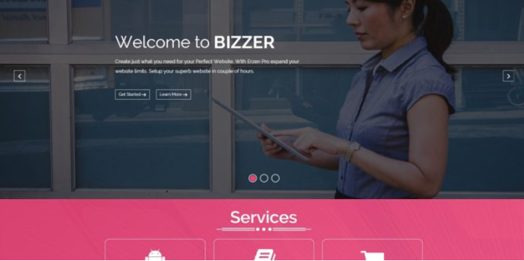Free bizstart WordPress theme