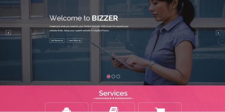 Free bizstart WordPress theme