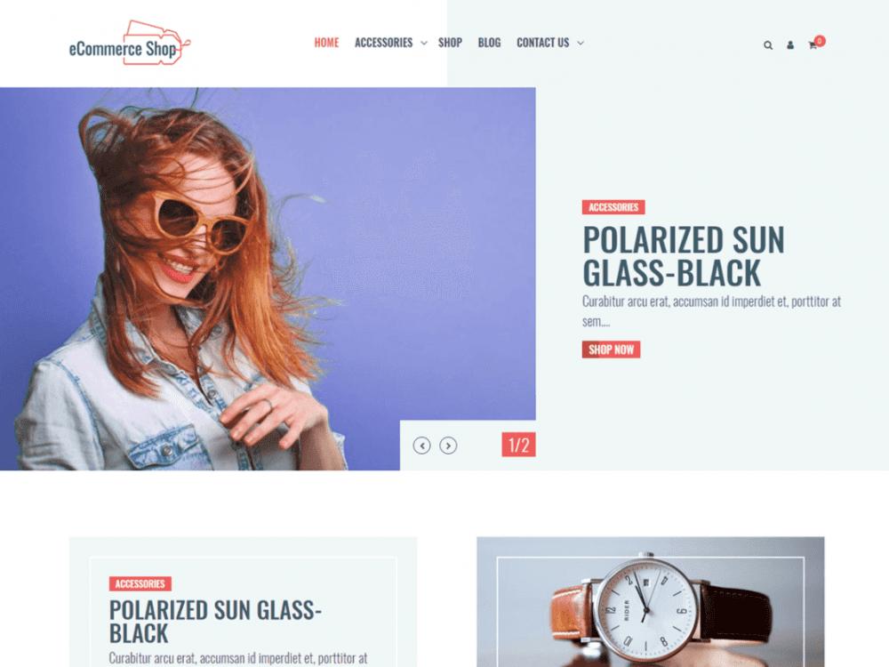 Free eCommerce Shop WordPress theme