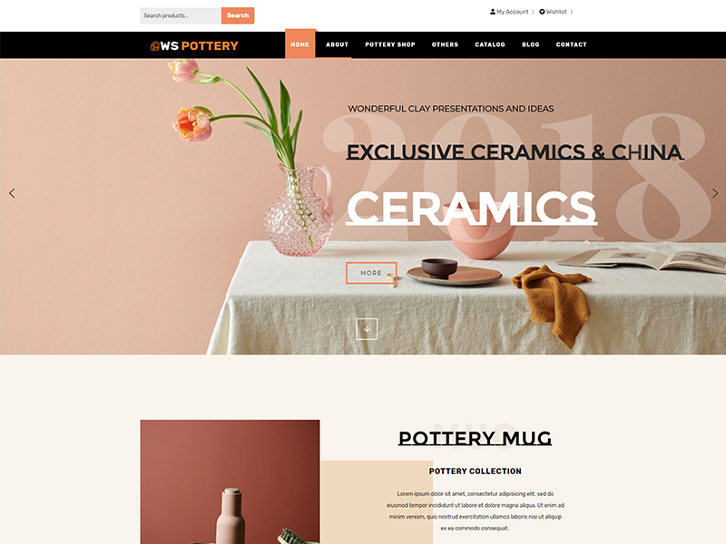 free ws pottery wordpress theme
