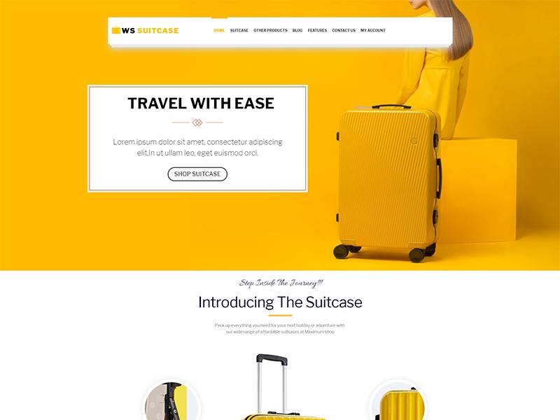 free ws suitcase wordpress theme