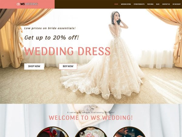 free ws wedding wordpress theme