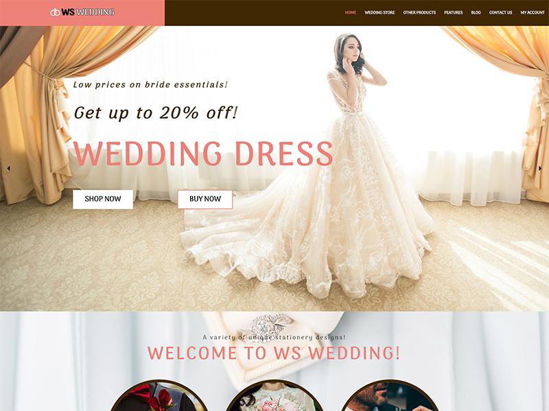 free ws wedding wordpress theme