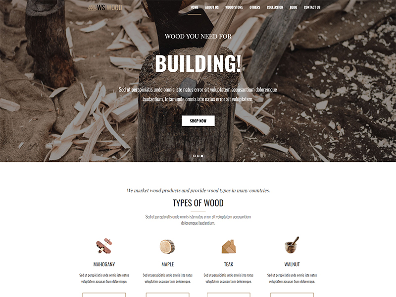 free ws wood wordpress theme
