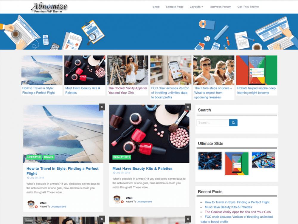 Free Abnomize WordPress theme