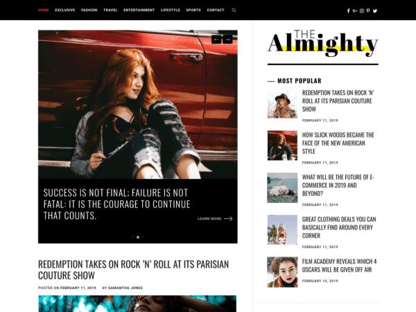 Free Almighty WordPress theme