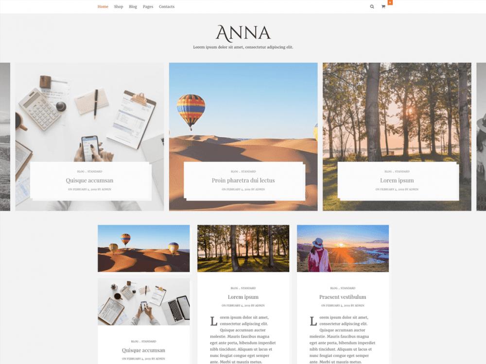 Free Anna Lite WordPress theme