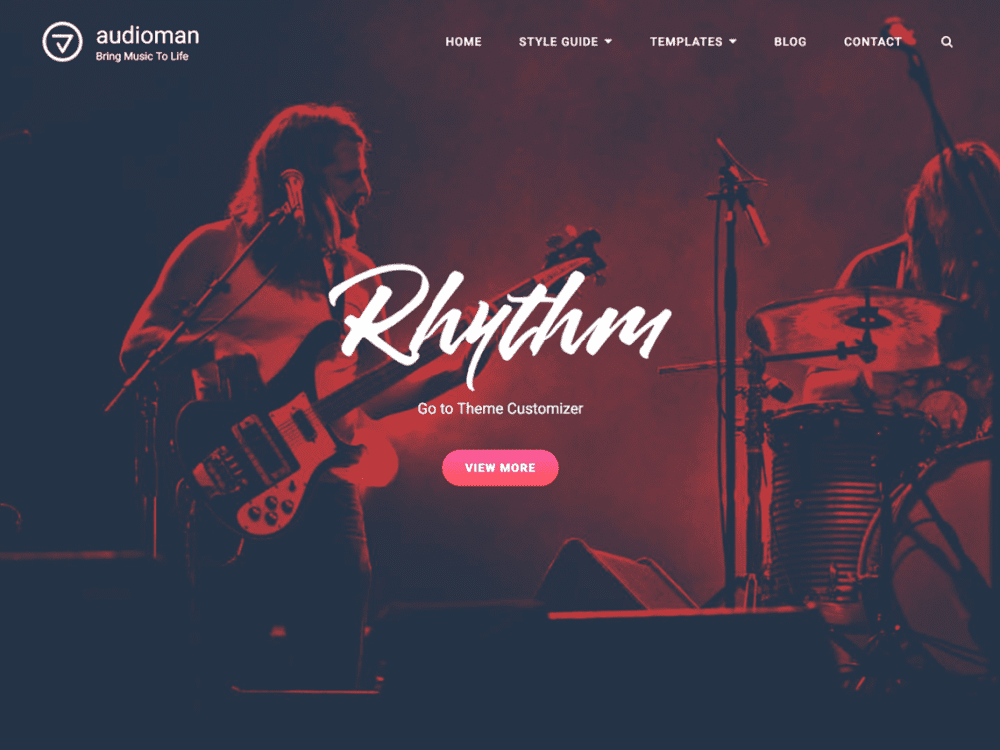 Free Audioman WordPress theme