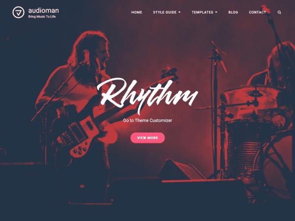 Free Audioman WordPress theme