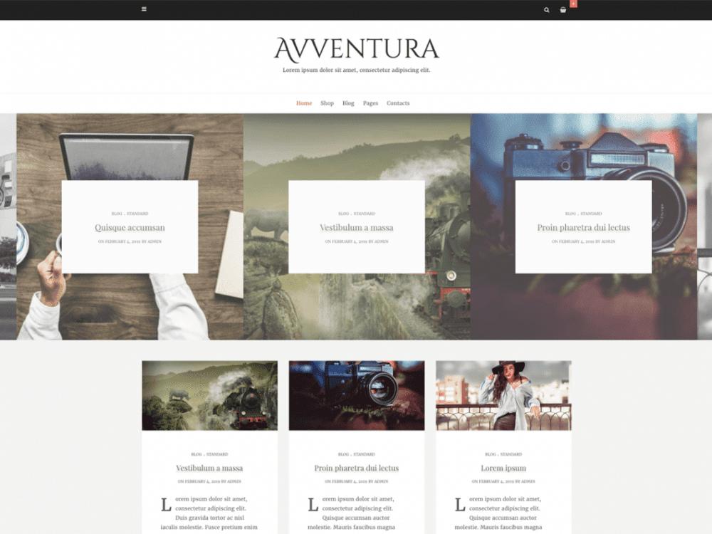 Free Avventura Lite WordPress theme