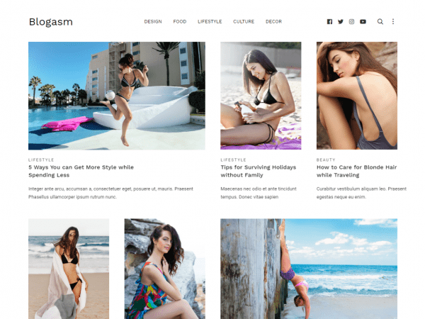 Free Blogasm WordPress theme