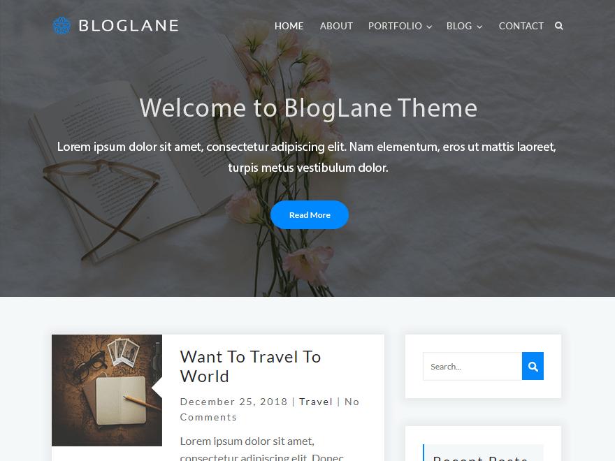 Free Bloglane WordPress theme