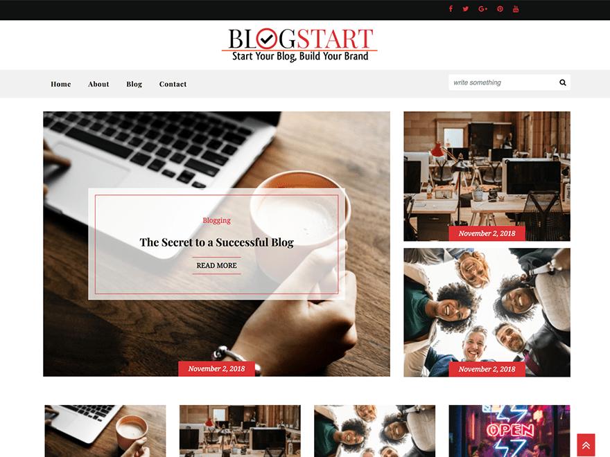 Free Blogstart WordPress theme