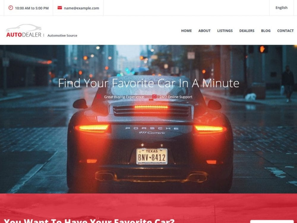 Free CarListings WordPress theme