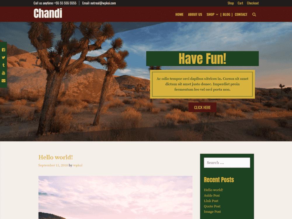 Free Chandi WordPress theme