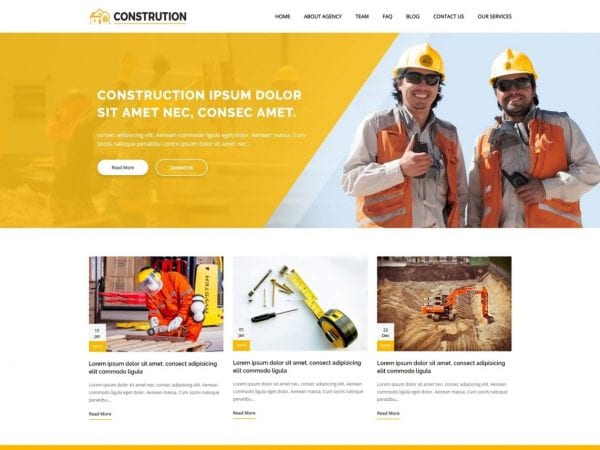 Free Construction Architecture WordPress theme
