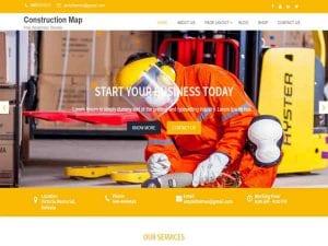 Free Construction Map WordPress theme