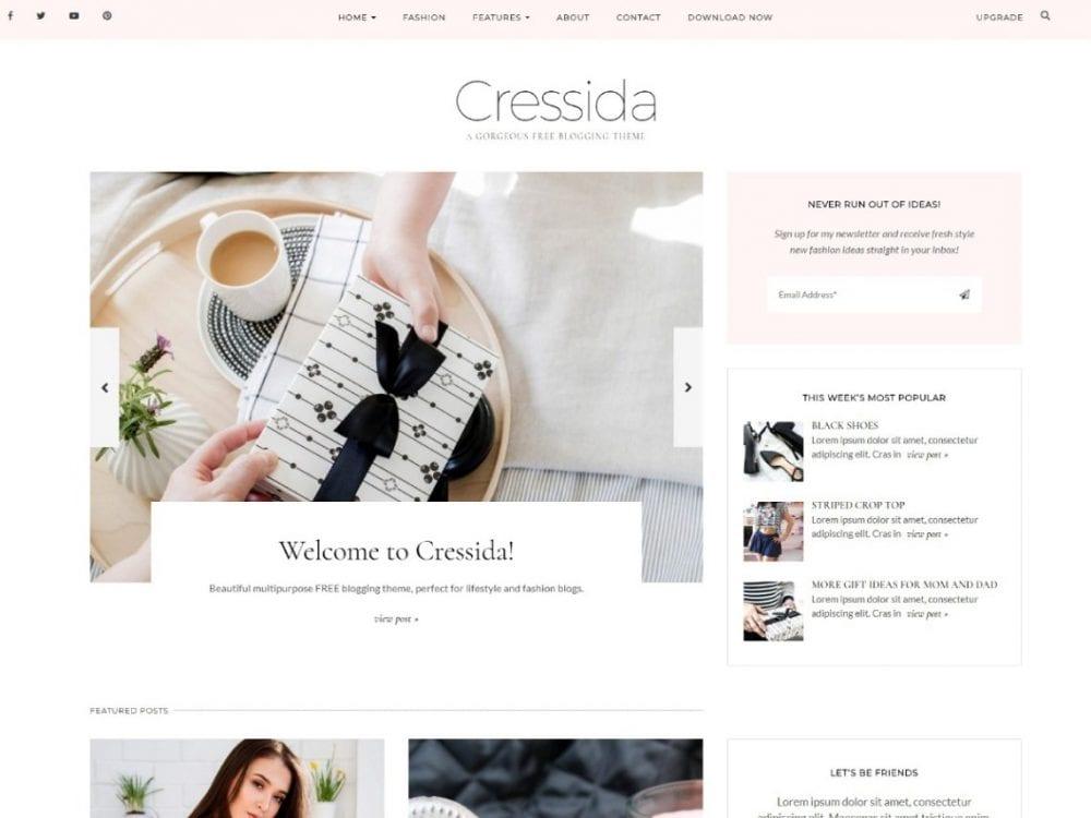 Free Cressida WordPress theme