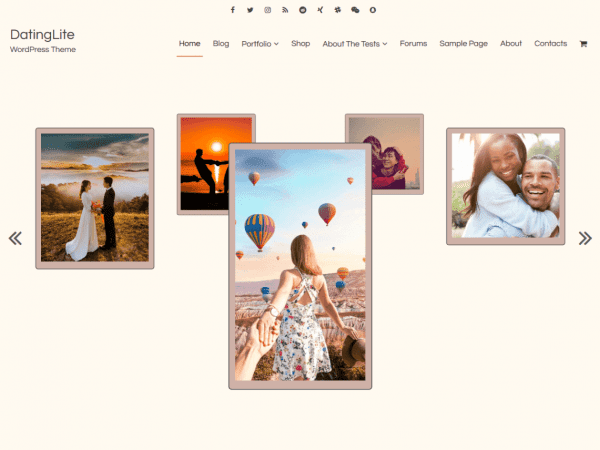 Free DatingLite WordPress theme