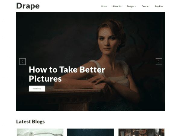 Free Drape WordPress theme