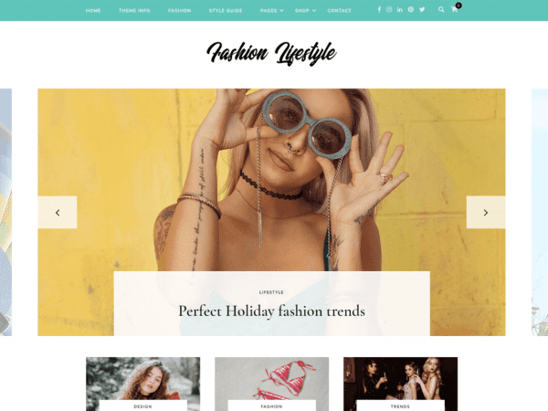 Free Fashion Lifestyle WordPress theme