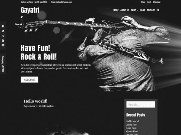Free Gayatri WordPress theme