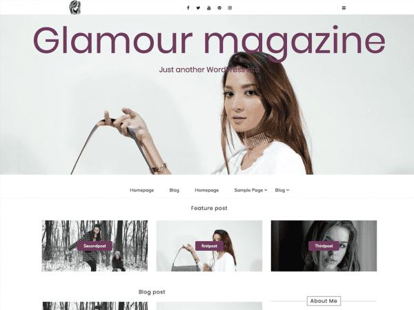 Free Glamour magazine WordPress theme
