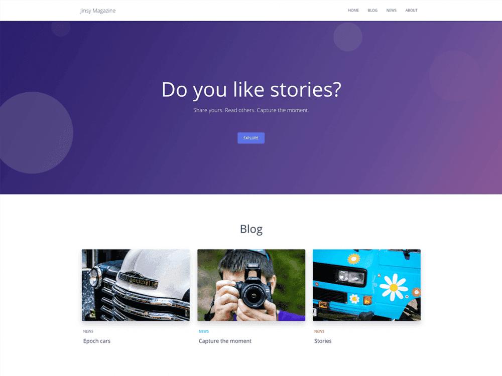Free Jinasy Magazine WordPress theme